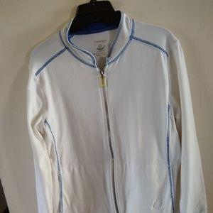 Women's Zenergy white and blue zip up jacket